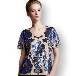 Tracy Reese Target Neiman Marcus Sequin Blouse S